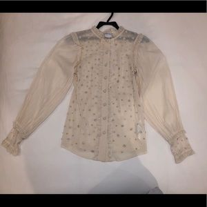 Red Valentino Silk Embellished Blouse